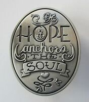 O Hope Anchors The Soul Pewter Visor Car Clip Decoration Angel Star Inspiration