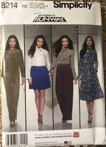 Miss Petite Dresses Jumpsuit Sewing Pattern Sz 14-22 Simplicity 8214 Misses