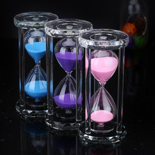30 60 Minutes Sand Gl Hourgl Timer Clock Kitchen Home Office Decor Items
