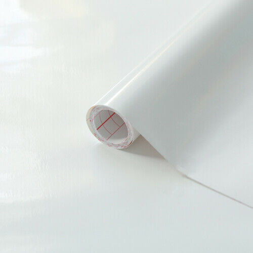 90cm x 2.1m d-c-fix GLOSSY WHITE sticky back plastic vinyl wrap film pack of 2