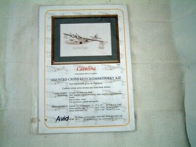 cross stitch kit of Catalina Flying Boat  RAF