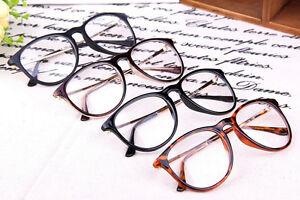 Fashion-Trendy-Vintage-Retro-Frame-Clear-Lens-Nerd-Geek-Glasses-Eyeglass-Eyewear