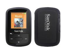 for Sandisk Sansa Clip Sport Plus SDMX28 Soft Rubber Skin Cover Case, Black