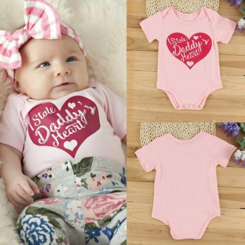Newborn Kids Baby Boy Girl Infant Romper Jumpsuit Bodysuit Clothes Outfit 0-24M
