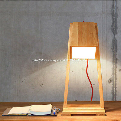 Wood Table Lamp Living Room Study Desk