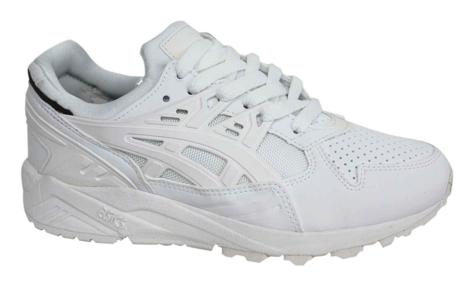 Details about Asics Gel Kayano Evo White Lace Up Men Synthetic Leather Trainers H5BOY 0101 D38