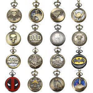 Vintage-Steampunk-Retro-Bronze-Design-Pocket-Watch-Quartz-Pendant-Necklace-Gifts