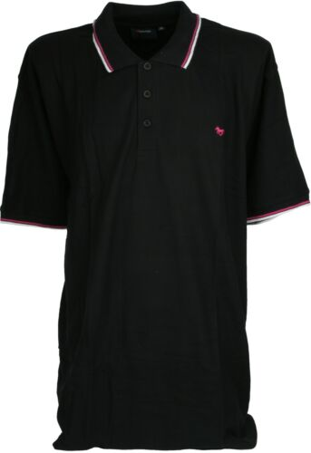 Espionage Polo Top con contrasto bordo a righe