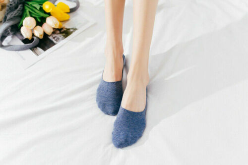 GK Womens Summer Invisible Nonslip Loafer Plain Solid No Show Cotton Boat Socks