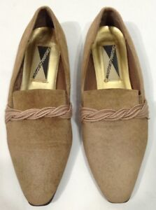 8f0f9582e2377 Details about vintage retro 80s Mootsie Tootsie Pointy Tan ballet flats  shoes 9 NEW
