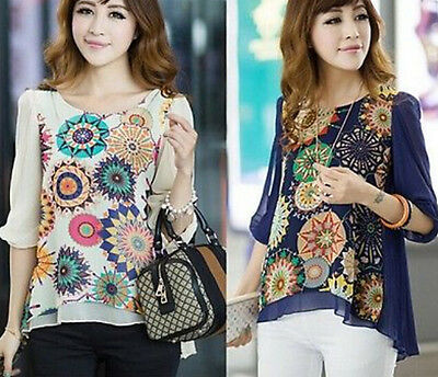 Court New 2015 Womens Clothes Summer Chiffon Tops T Shirt Casual Loose Blouse