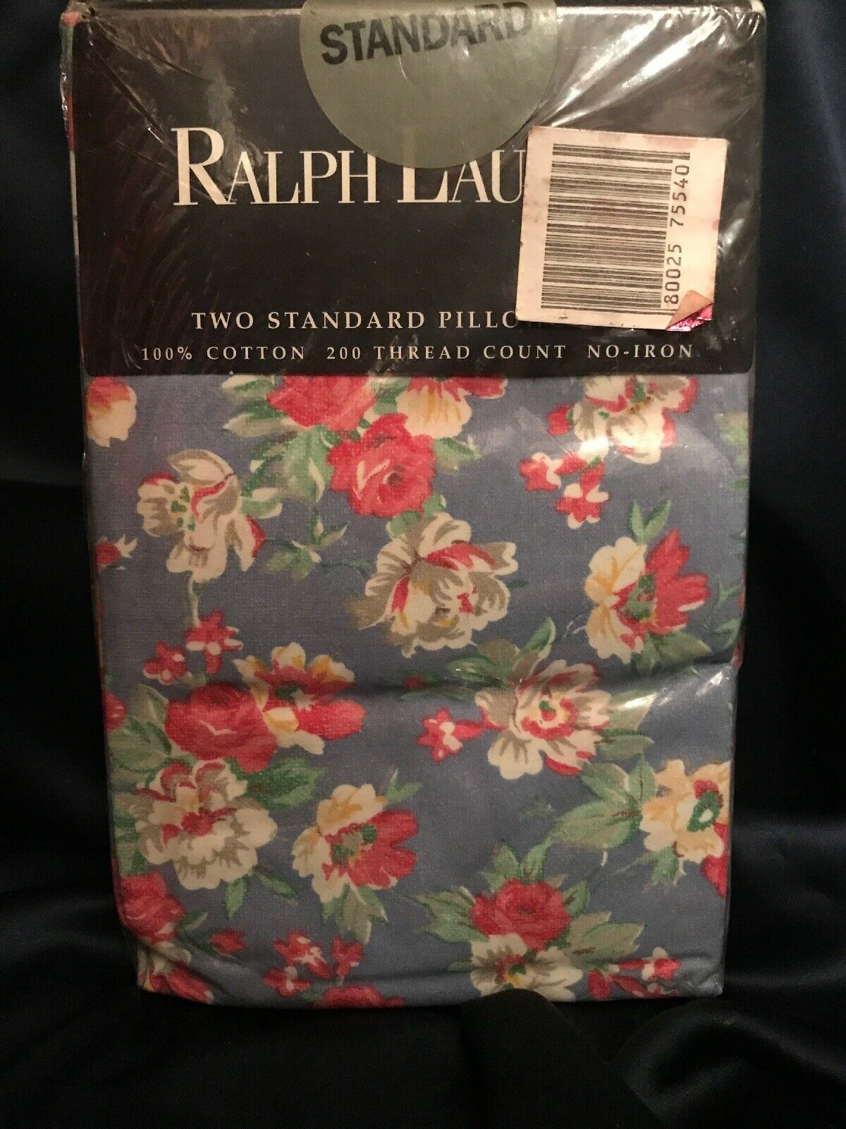 Rare  Vintage Ralph Lauren Hope Floral Shabby Cottage Pair STD Pillowcases