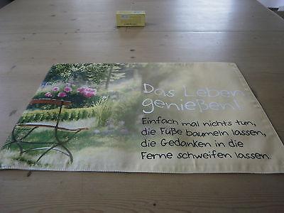 """Tischset  Platzset  """" für Dich """" Maße ca. 28,5  x 43,5 cm Baumwolle La Vida Neu"""