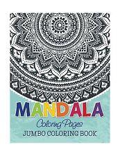 Mandala Coloring Pages: Jumbo Coloring Book Free Shipping