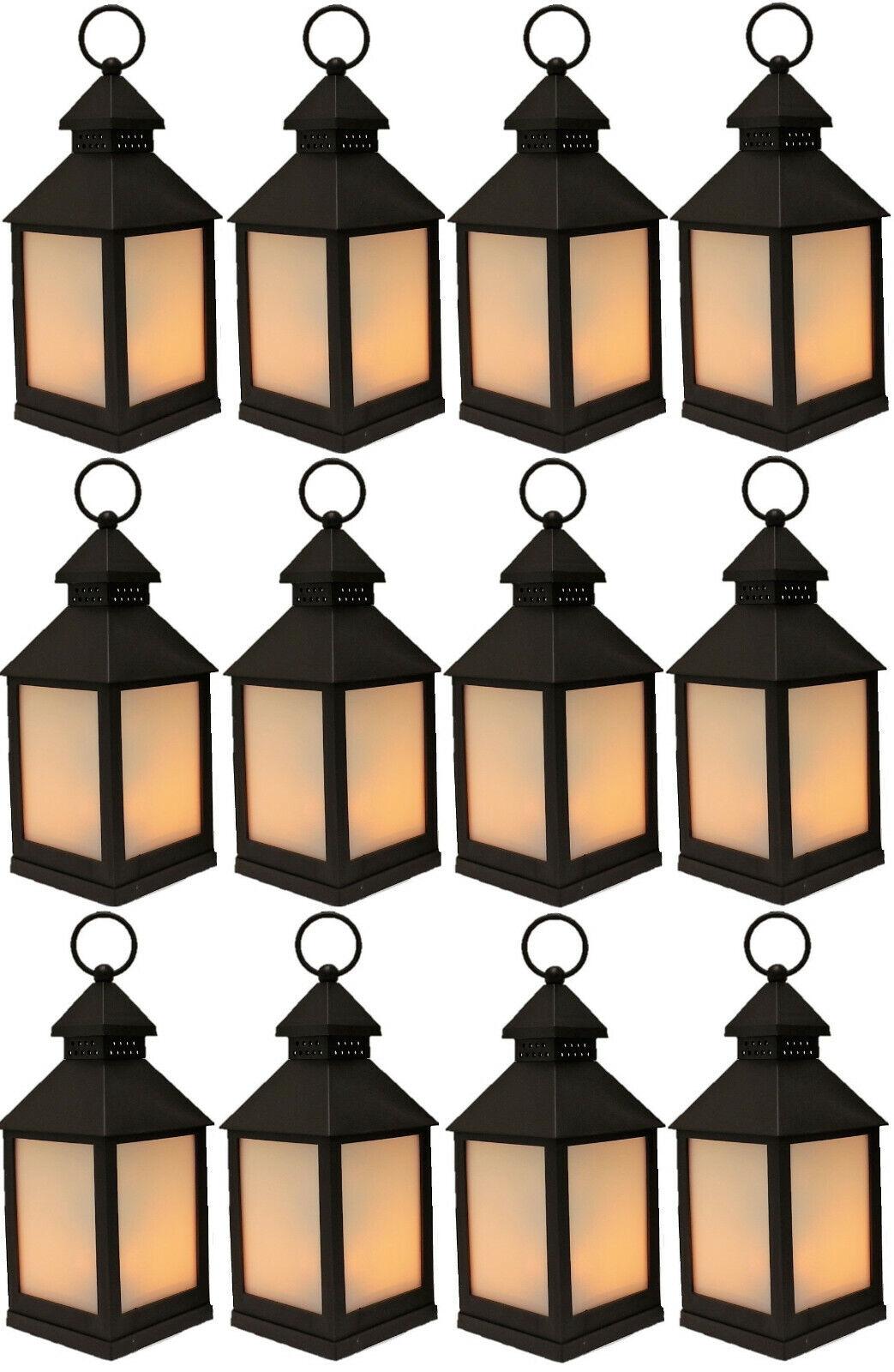 12x LED Laterne mit FlamSieeffekt flackerndes Licht Lampe
