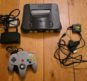 Nintendo 64 N64 Console, Power supply, AV Lead & Official Controller tested