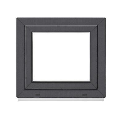 Kellerfenster Fenster 2 fach ALLE GRÖßEN Dreh-Kipp außen Anthrazit Premium