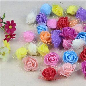 10x-Foam-Rose-flower-home-wedding-car-decoration-craft-Wedding-Flower-amp-y