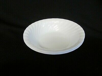 3 CORELLE WHITE scalloped SWIRL elegance ENHANCEMENTS cereal bowls NEAR MINT