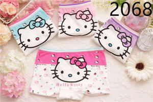 Cute Hello Kitty Girls Underwear Panties Briefs 4 Per Pack 24 Colors 6 Styles