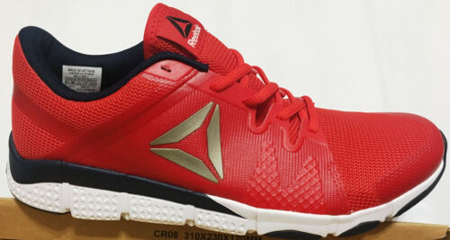 NIB MEN REEBOK BS7724 TRAINFLEX TRAINING RUNNING RED//NAVY//WHT SHOES SNEAKERS $90