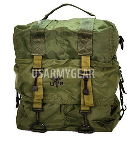 Made in USA Army Military GI Medical Instrument Supply Set Case Bag OD Green