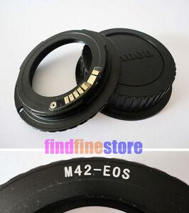 AF-Confirm-M42-Lens-to-Canon-EOS-EF-adapter-7D-350D-500D-1000D-1100D-rebel-CAP