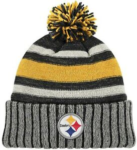7075fb2f1cead ... sweden image is loading nwt nfl pittsburgh steelers reebok throwback knit  hat 9b213 7dc82