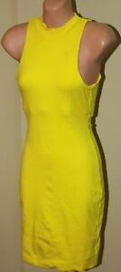 1d65a7d959 Image is loading Womens-Gorgeous-Yellow-Bodycon-Dress-Kookai-Size-1