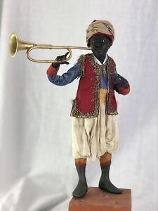 Figura-Orientale-26-Cm-Bimbo-Suonatore-Banda-Presepiale-Krippe-Belen-Tromba