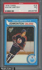 "1979 Topps Hockey #18 Wayne Gretzky RC Rookie HOF PSA 7 "" LOOKS NICER """