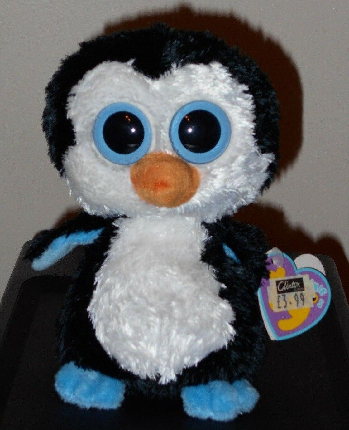 Ty Beanie Boos  WADDLES the Penguin (2nd Version Tags)(6 Inch) MWMT