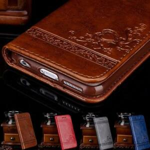 Luxury Leather Flip Card Wallet Phone Case Cover Stand fo iPhone 6 6S 7 8 Plus X