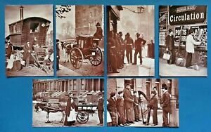 Set-of-6-London-1877-Street-Life-Repro-Postcards-England-Social-History-Set-1