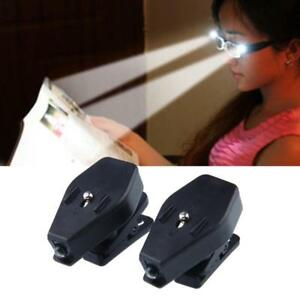 2PC Portable Clip On Eye Glasses Light Magnifier Reading LED Magnifying Glass