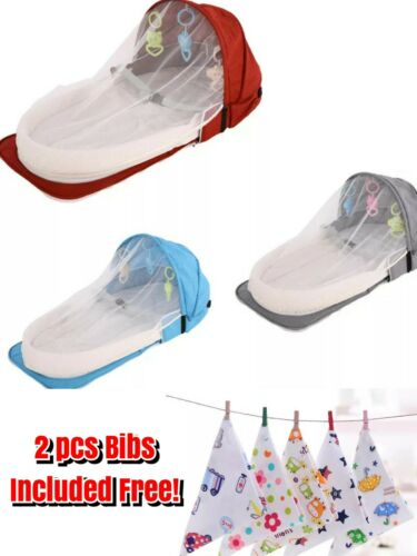 Portable Baby Nest Pod Breathable Cotton Bionic Bed Crib Free Gift Bibs Qualit