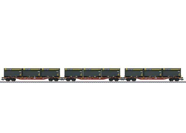 marklin 47091 h0 AC 3-contenitore autorello portante sngss M. woodtainer contenitori XXL
