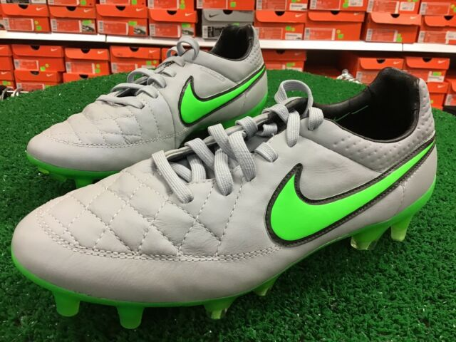 Nike Tiempo Legend V FG 631518 030 Wolf ACC Soccer BOOTS Cleats Shoes Men's 5