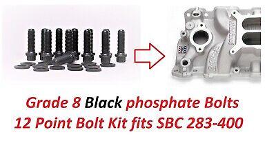Chevy Intake Manifold Bolts SB Chevy Engines 283 327 350 383 Grade 8 Bolt Set