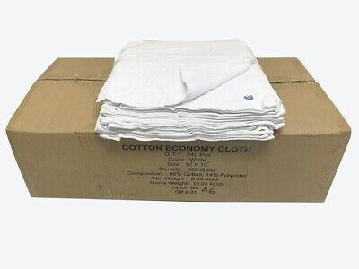 "240 Case 12/""x12/"" Economy Grade Microfiber Cleaning Cloths//Auto 220GSM Light Blue"