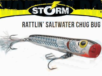 STORM RATTLIN  CHUG BUG ORIGINAL 26G  11CM FISHING LURE  UK SELLER  SALTWATER