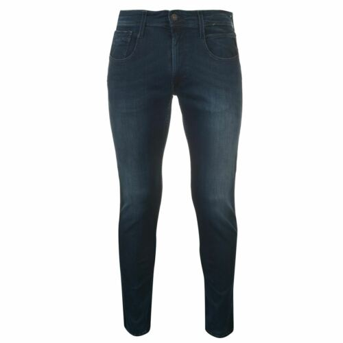 Mens Replay Anbass Hyperflex Slim Jeans Zip New