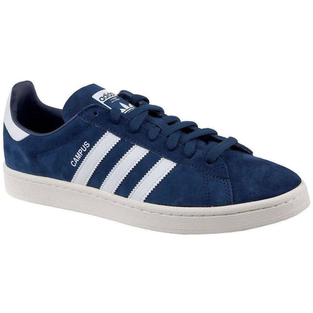 Adidas Campus Dark Blue Footwear White Mens Nubuck Low-top Sneakers Trainers