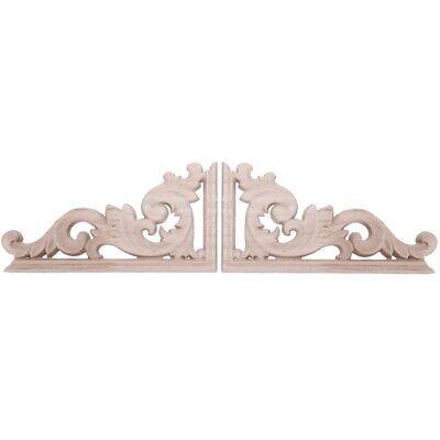 1 stücke Holz Geschnitzte Ecke Onlay Applique Rahmen Wohnmöbel Handwerk