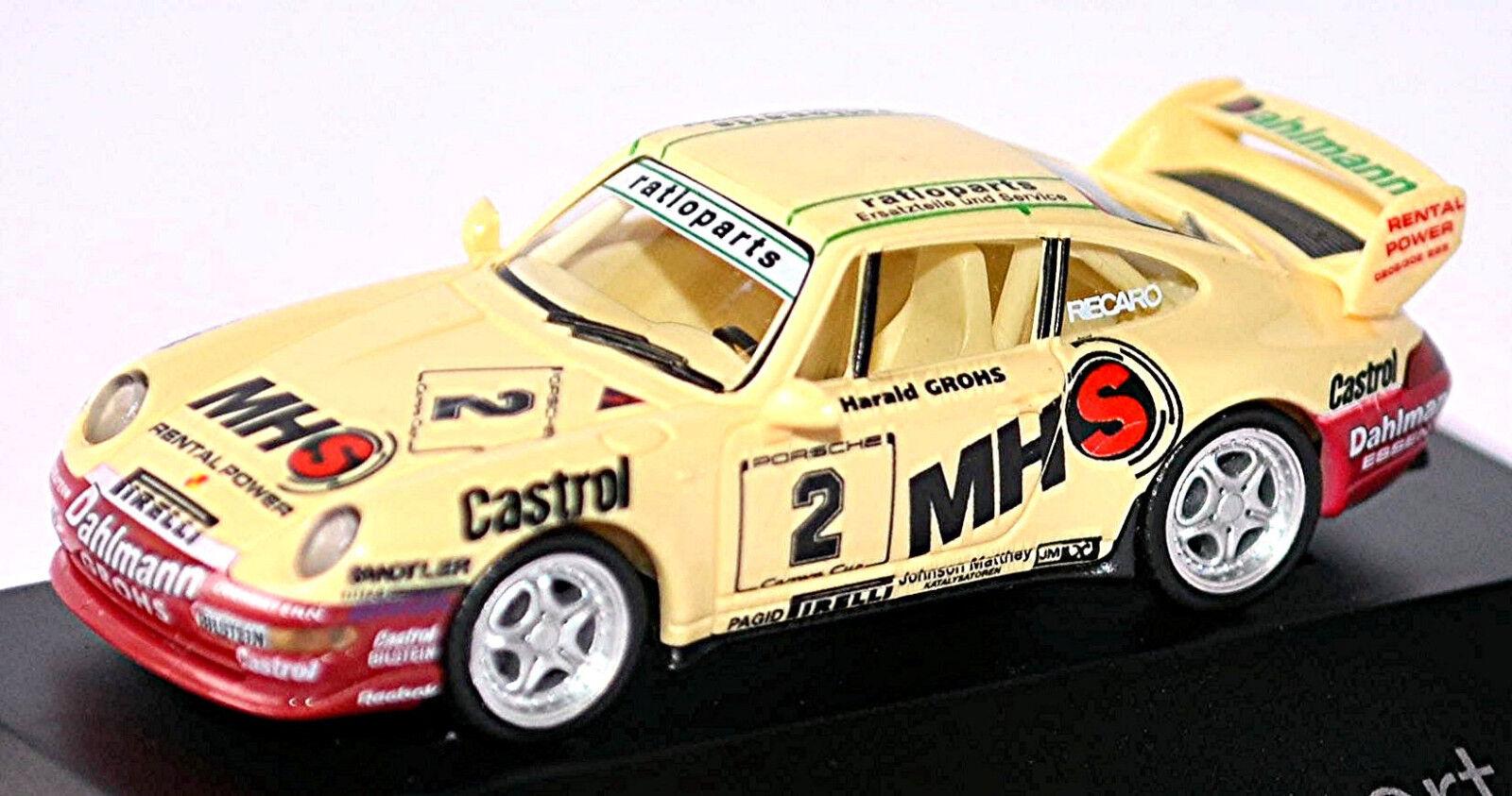 Porsche 911 RS Clubsport 993 CARRERA CUP WINNER 1995 MSP H.Grohs 1 87 Herpa