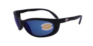 86e2b67fe3 Costa Del Mar Fathom FA 11 OBMP Matte Black   Blue Mirror 580P ...