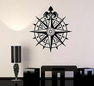 Details About Vinyl Wall Decal Comp Wind Rose Ocean Nautical Marine Stickers 251ig