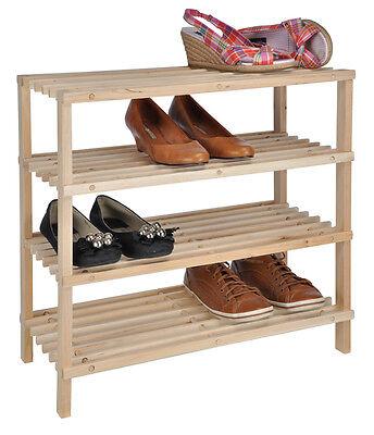 4 Etagen Holz Schuhregal Schuhständer Schuhschrank  #45
