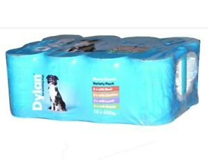 Dylan-Meaty-Chunks-Variety-Pack-for-Working-Dogs-Wet-Dog-Food-Cans-12-x-400g