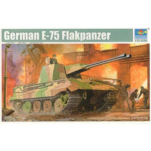 Trumpeter 1//35 German E75 Flakpanzer Tank 135 Model Kit Flackpanzer Tr01539